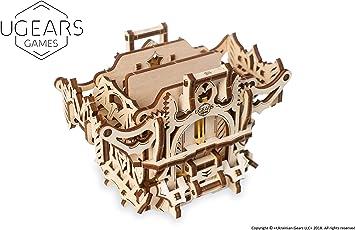 UGEARS Modelo Mecánico Puzzle 3D - Caja para Mazos Barajas de Cartas Tarjetas de Juego de Mesa -