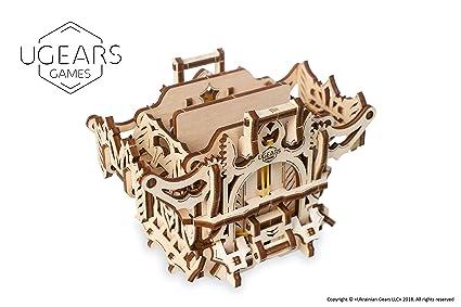 UGEARS Modelo Mecánico Puzzle 3D - Caja para Mazos Barajas de Cartas Tarjetas de Juego de Mesa - Deck Box Estuche Funda de Transporte de Madera para ...