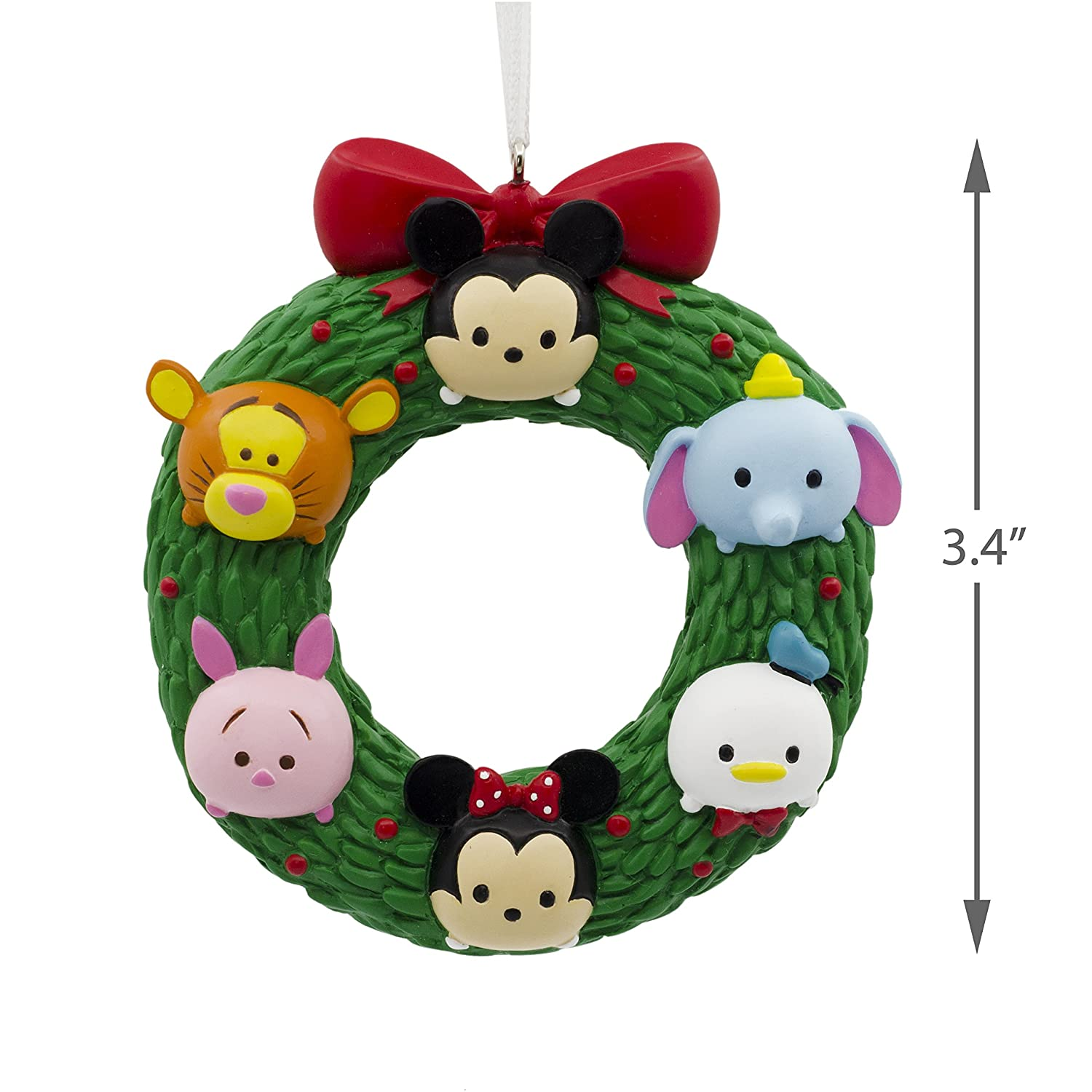 Tigger Christmas Ornaments.Hallmark Christmas Ornament Disney Tsum Wreath Mickey Minnie Mouse Winnie The Pooh Donald Duck Dumbo Tigger Piglet