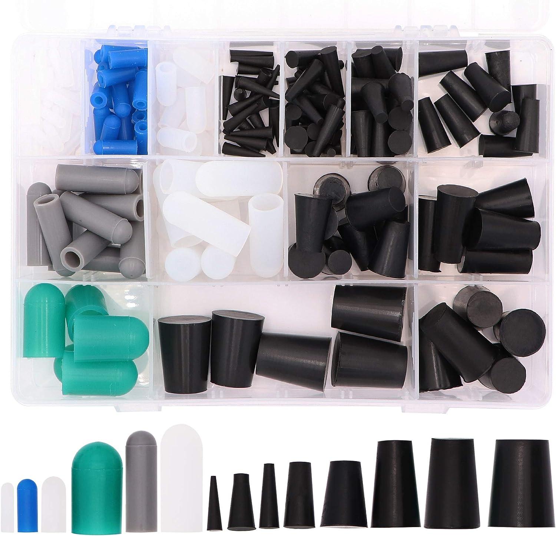 Masking System Kit for Powder Coating Anodizing Painting Taukealugs 170pcs High Temp Silicone Rubber Cap /& Plug Assortment Plating /& Media Blasting