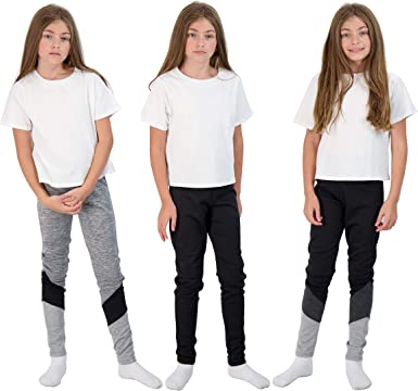 Amazon.com: Hind 3-Pack Girls Fashion Active Leggings Workout Clothes for  Kids Athletic Sports: Clothing
