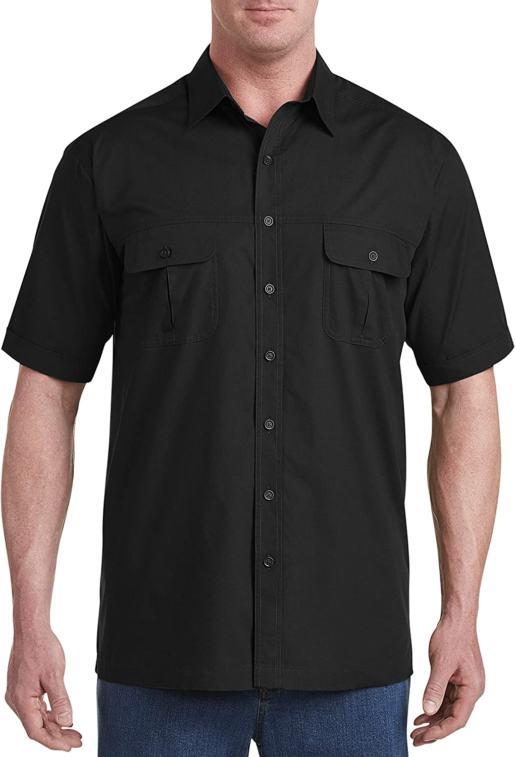 Harbor Bay by DXL Big and Tall Short-Sleeve Co-Pilot Sport Shirt