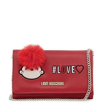 Love Moschino - Monedero de Piel sintética, Color Rojo, Rojo ...