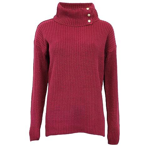 Brave Soul Damen Pullover Damen Zopfmuster gestrickt grob