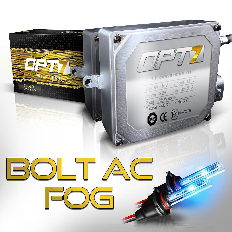 Amazon.com: OPT7 Bolt 25w AC H11 (H8, H9) Fog Light HID Kit - Relay ...