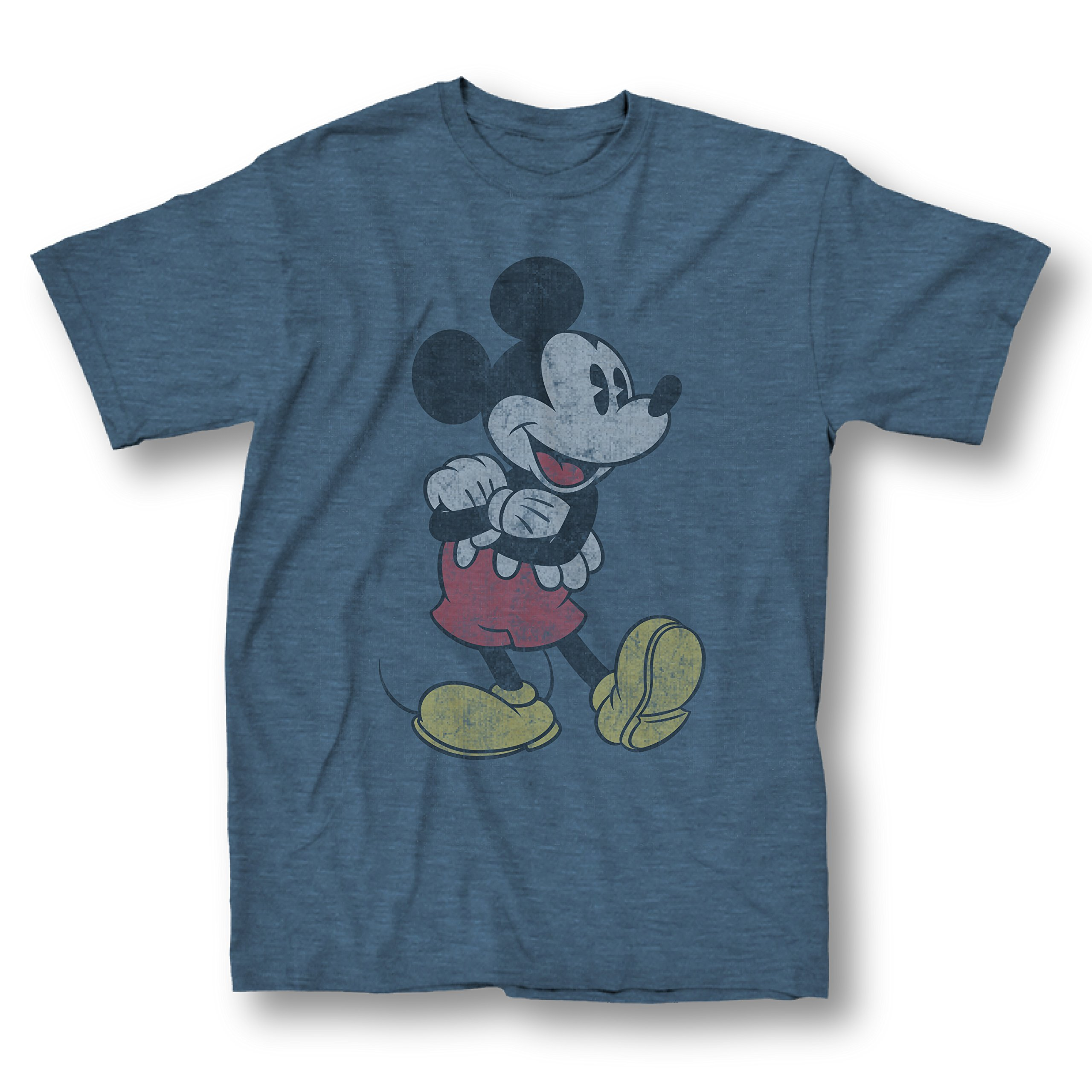 Mickey Mouse Arms Crossed T-shirt (Small, Heather Navy)