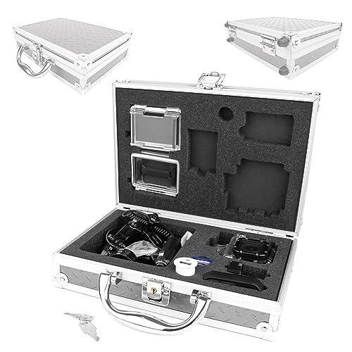 DURAGADGET Protective Aluminium Flight Case With Shock Absorbing Custom Foam Interior For GoPro Headcams Including GoPro Hero 4, GoPro Hero 3 AHDBT-301 Camcorder - (Black, Silver and White Editions), HERO3+ (Plus) CHDHX-302 / CHDHN-302, Hero 2, Hero 1, HD Hero 960 Cameras