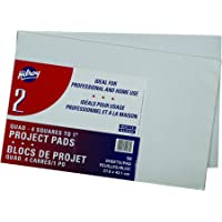 Hilroy Quad Ruled Project Pad, 11 X 17 Inches, 50 Sheets, White, 2/Pack (51072)