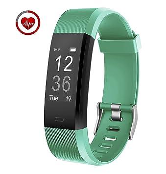 aa28e1cdec8f Vigorun YG3 Plus Pulsera Inteligente Fitness Tracker Podómetro Monitor de  frecuencia cardiacaen Monitorizar 14 Patrones de Actividad, para Android y  ...