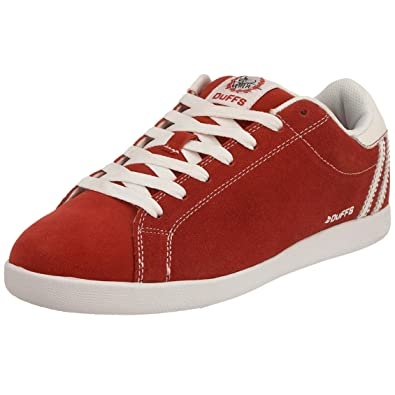 45a8a83a71 Duffs Men s Louie Skateboarding Shoe Chinese Red Black D008-REB 6 UK ...