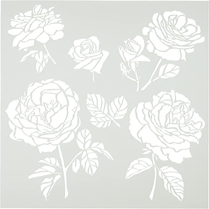 6 by 6 Crafters Workshop Cabbage Roses Crafters Workshop Template