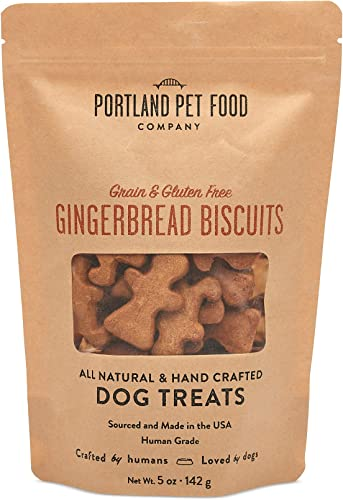 Portland Pet Food Company All-Natural Dog Treat Biscuits Handcrafted Grain-Free, Gluten-Free, USA Sourced Baked Made, Human-Grade, All Natural Limited Ingredients, 5 Ounces, Various Flavours
