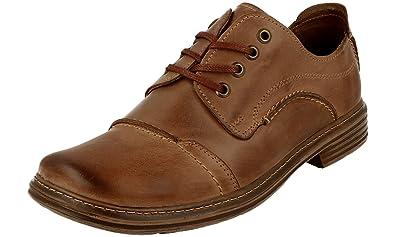 395 Homme Polbut Classique En Cuir Chaussures À Lacets, Brun, 41 Eu