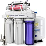 iSpring RCC7AK-UV DELUXE Under Sink 7-Stage Reverse Osmosis Drinking Water Filtration System with Alkaline Remineralization and UV Sterilizer - WQA Gold Seal Certified