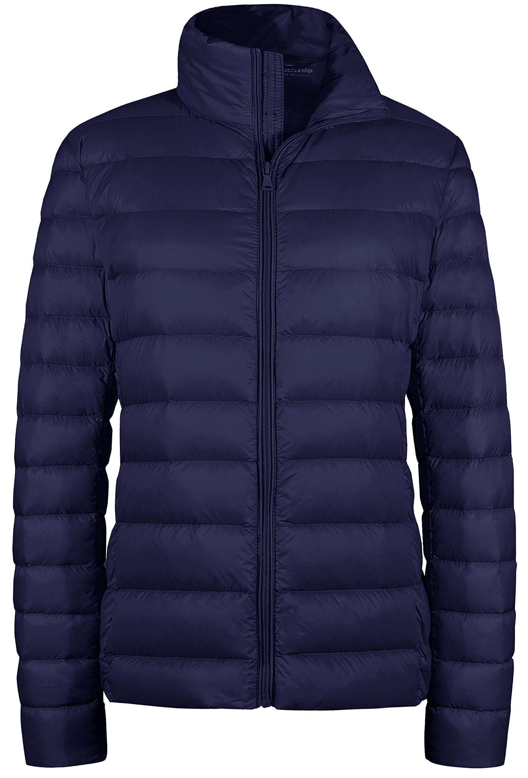 Wantdo Womens Puffer Jacket Outwear Packable Light Weight Down Coat Navy Medium by Wantdo