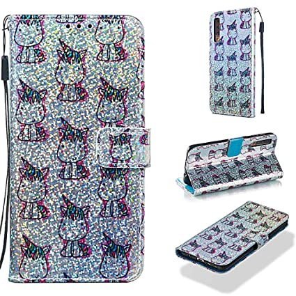 Amazon.com: Funda para Galaxy A7 2018/A750, funda de piel ...