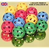 Gamester perforated plastic playballs bag of 12 ref. 02000
