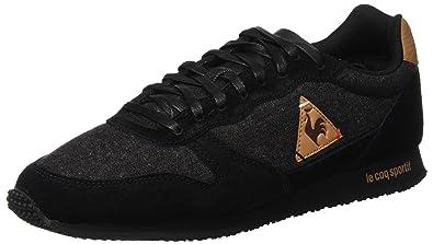 8019808ad5e444 Le Coq Sportif Men's Alpha Craft Black/Brown Sugar Trainers: Amazon ...