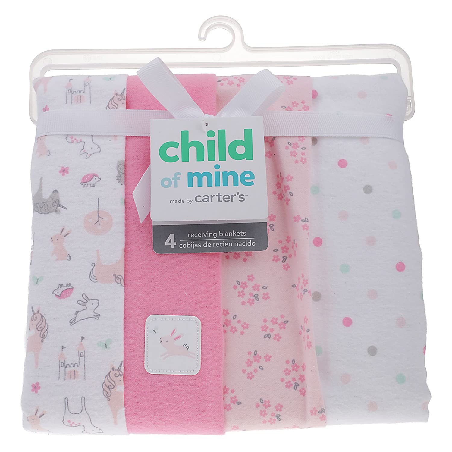 Amazon.com: Carters Child of Mine Love Is in the Air Pink Blanket ...