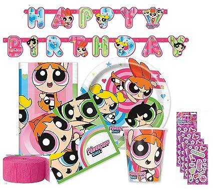 Amazon.com: Powerpuff Girls Fiesta de cumpleaños suministros ...