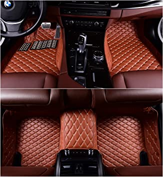 Okutech Custom Fit XPE Leather 3D Full Surrounded Waterproof Car Floor Mats for Porsche Cayenne 2011
