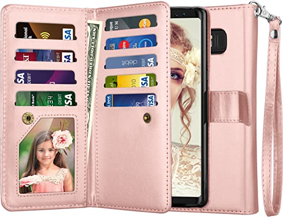 8 Wallet 8 Leather Njjex Galaxy Note 8 Case PU Protective... 9 Card Slots