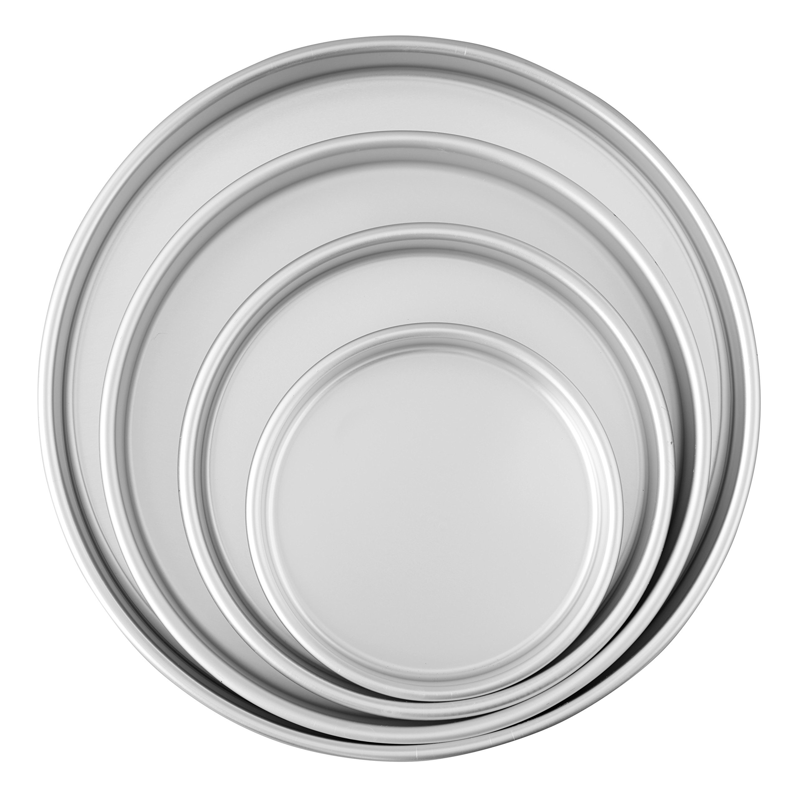 Wilton Round Cake Pans, 4 Piece Set for 6-Inch, 8-Inch, 10-Inch and 12-Inch Cakes by Wilton