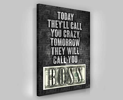 Hustler Quotes | Amazon Com Successhuntersprints Boss Quotes Canvas Print