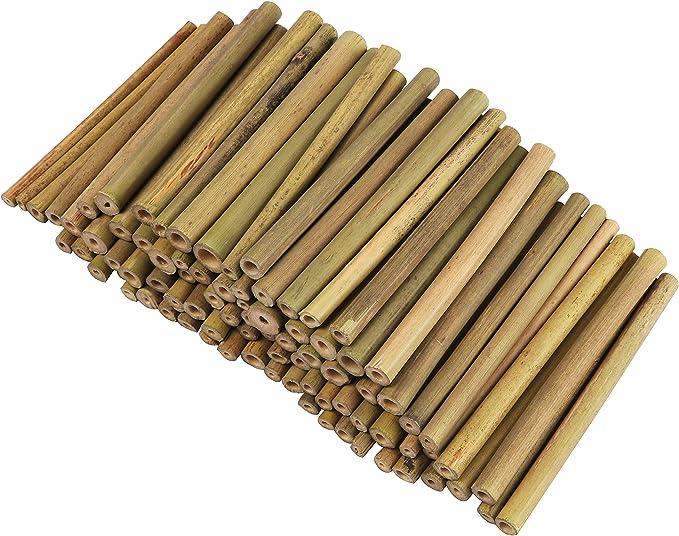 BELLE VOUS Palos de Bambu o Estacas de Bambú - Pack de 100 Bambu Decorativo para Niños y Adultos para Crear Modelos, Campanas de Viento, Collage, Decorar Tarjetas, Otras Manualidades y Bricolaje: