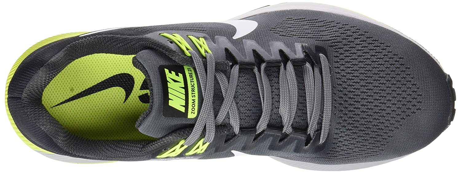 new styles d0288 03049 Nike Air Zoom Structure 21, Scarpe Running Uomo, Multicolore (Cool Grey  White Anthracite Volt 007), 40 EU  Amazon.it  Scarpe e borse