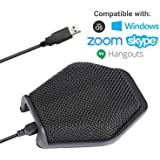 Movo MC1000 Conference USB Microphone for Computer Desktop and Laptop with 180° / 20' Long Pick up Range Compatible with Windows and Mac for Dictation