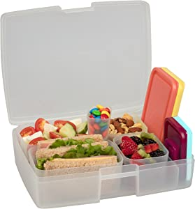 Bentology - Leak-proof Bento Lunch Box with 5 Removable Containers - Fruit/Multicolor