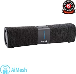 ASUS Lyra Voice All-In-One Smart Voice Home Mesh WiFi Tri-Band Router (AC2200), Amazon Alexa Built-In, Lifetime Aiprotection Security by Trend Micro, Parental Control, Bluetooth, Build-In Speakers