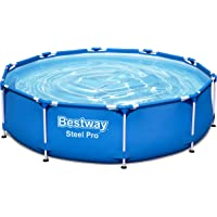 Bestway Steel Pro Framepool ohne Pumpe, rund, Piscina, Azul, Ø 305 x 76 cm