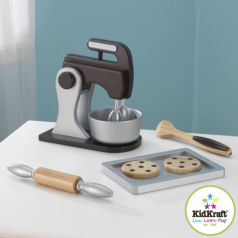 Amazon.com: KidKraft Wooden Baking Set - Espresso: Toys & Games