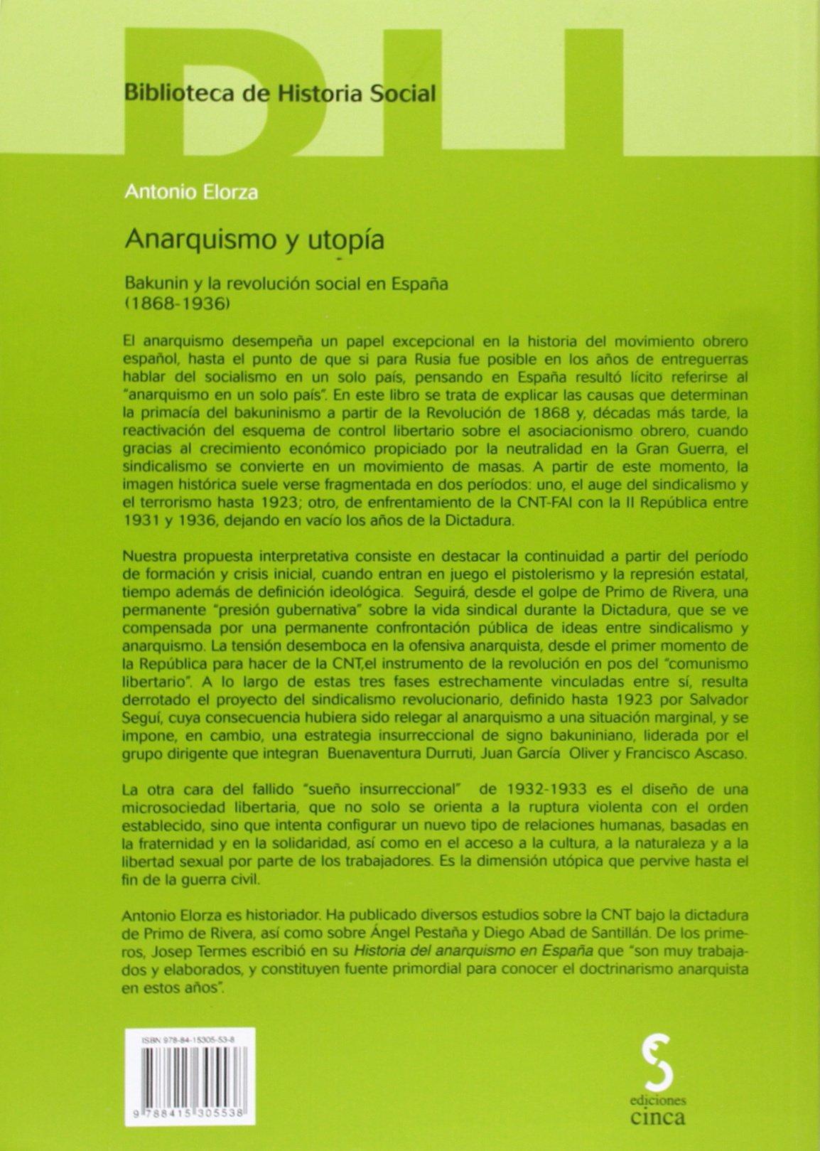 Anarquismo y utopía: Bakunin y la revolución social en España ...