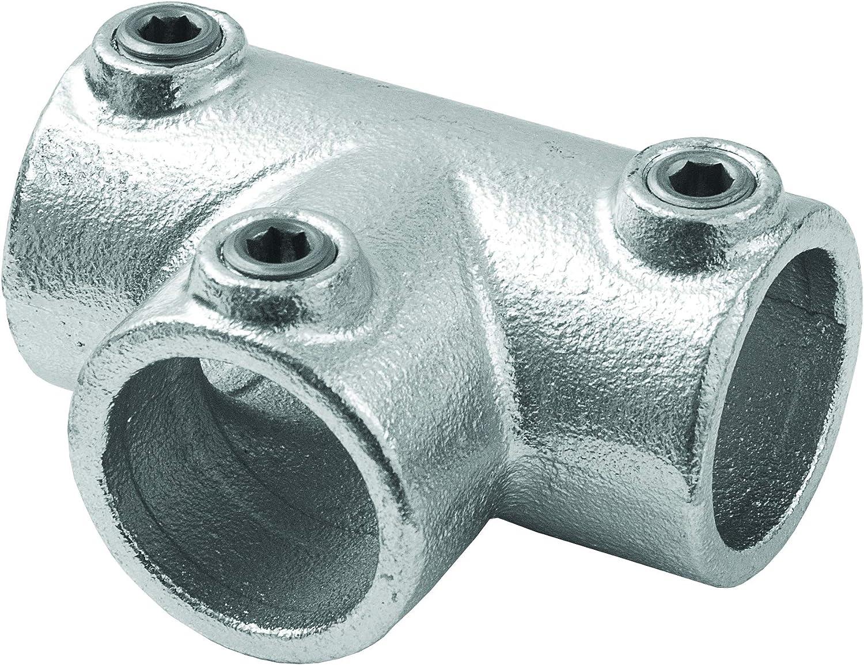 Conector de 3Vías hidráulico estilo industrial para tubo redondo diámetro 28–35mm para de oreja a 't' para la creación de bisagras de hierro