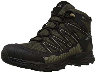 Salomon Men's Pathfinder Mid CSWP M Walking Shoe, Deep Depths/Black/Gothic  Olive