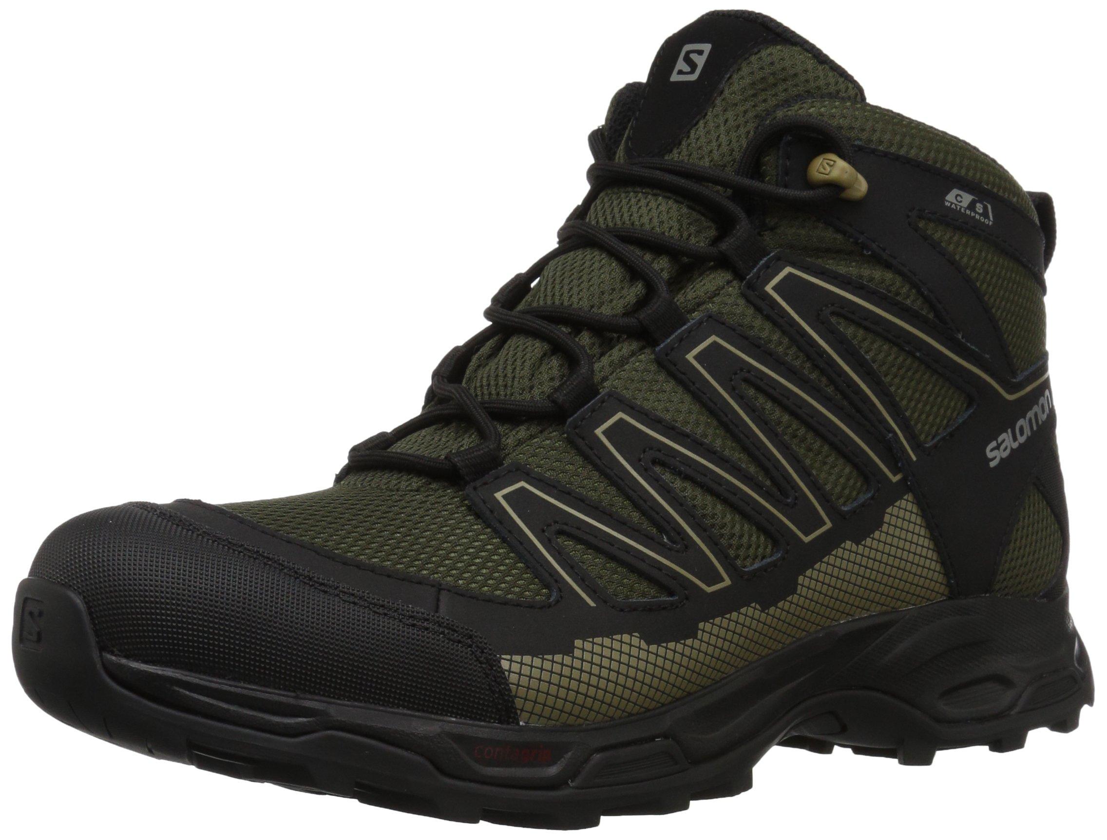 Salomon Men's Pathfinder Mid CSWP M Walking Shoe, Deep Depths/Black/Gothic Olive, 7 Medium US
