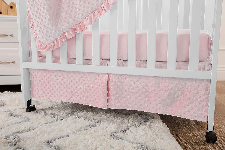 American Baby Company Heavenly Soft Minky Dot 3-Piece Mini//Portable Crib Bedding Set Pink