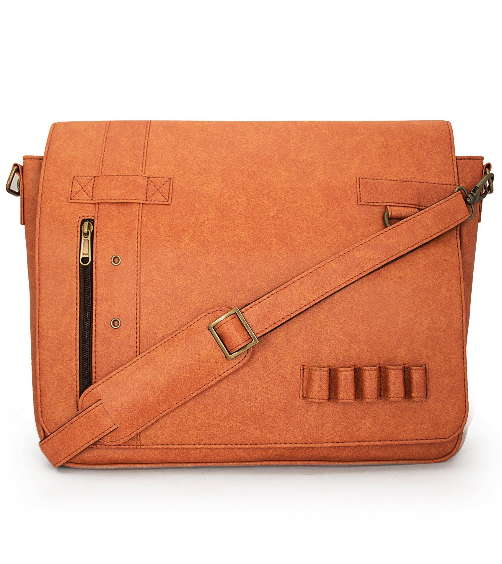 TOOG TG1241GC1015 Rust Vintage Leatherite Laptop Bag