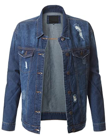 RubyK Womens Classic Long Sleeve Denim Jean Jacket with Pockets at ...