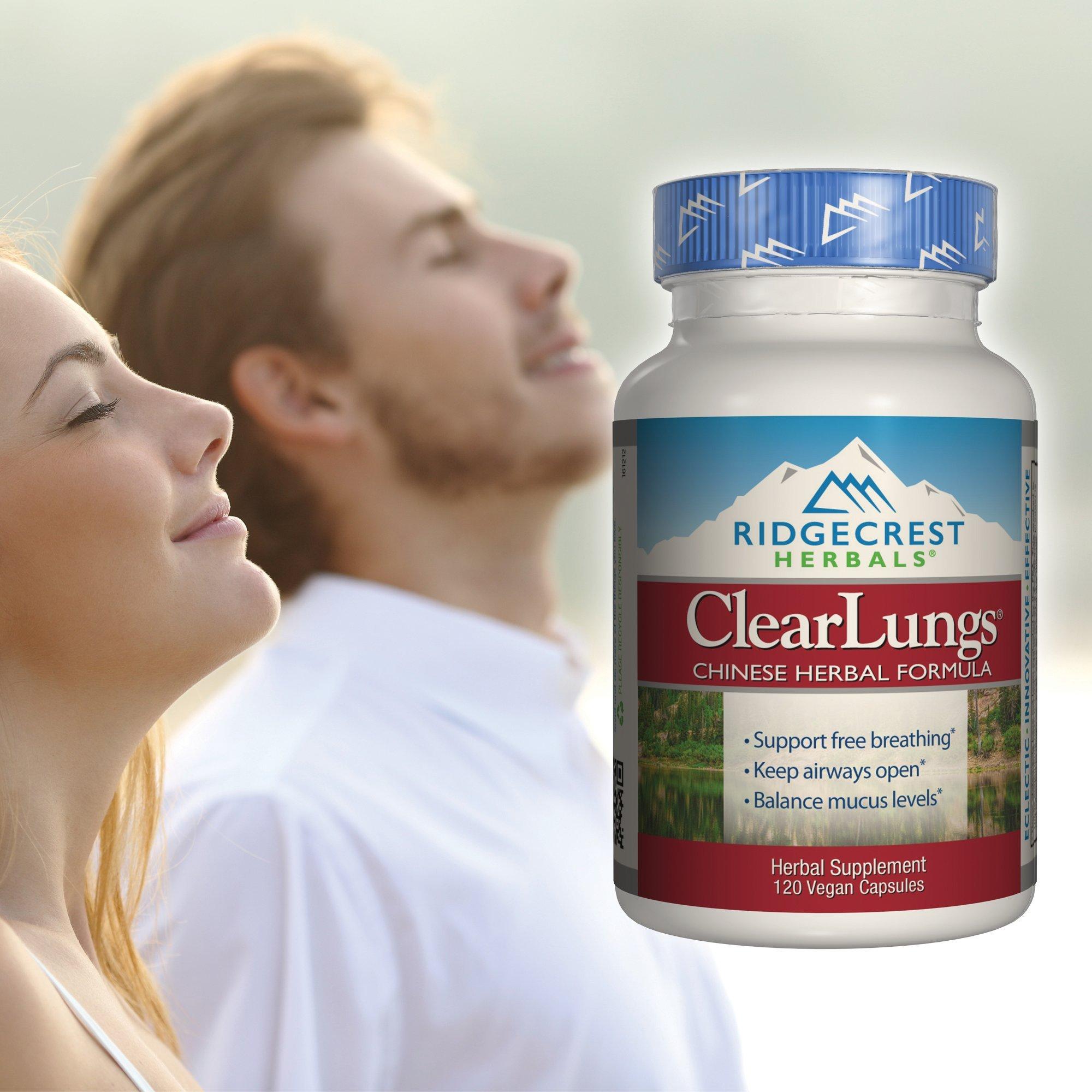 Ridgecrest Herbals ClearLungs, Chinese Herbal Formula, 120 Vegetarian Capsules by Ridgecrest Herbals