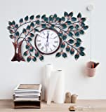 Collectible India Decorative Wall Clock Hand Crafted Vintage Style Iron Tree Designer Wall Clock