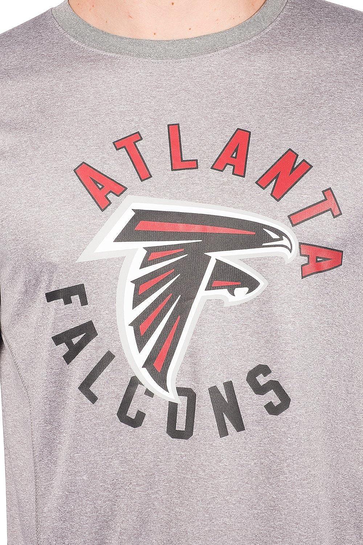 Heather Gray Small NFL Atlanta Falcons Ultra Game Mens LS POLY CREW NECK TEE