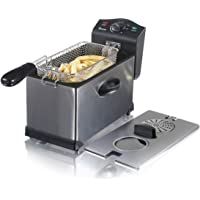 Swan SD6040N Stainless Steel Deep Fat Fryer with Viewing Window and Safety Cut Out, 2kW, 3L