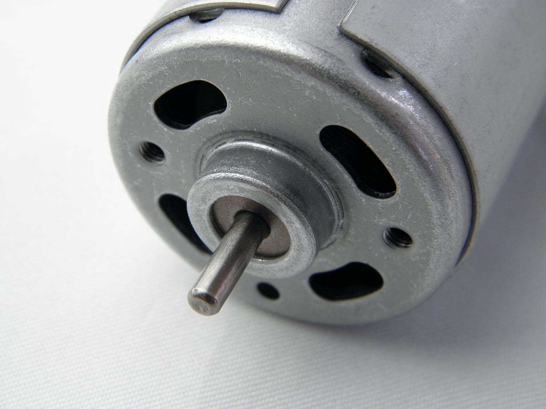 CHANCS Motor DC 555 Cepillado 24V 3500RPM Alto par Traje Protector de ventilaci/ón para Taladro