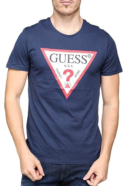 Guess Logo, Camiseta Manga Corta para Hombre: Amazon.es: Ropa y accesorios
