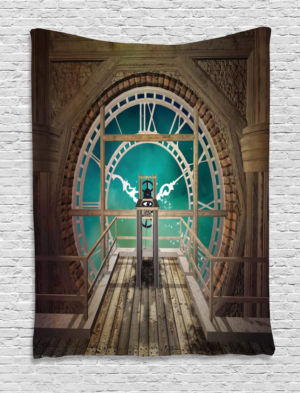 ABAKUHAUS Steampunk Tapiz de Pared, Fantasía Torre del Reloj, para ...