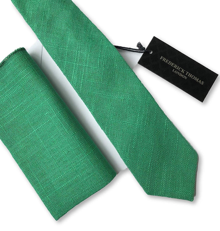 Frederick Thomas a Juego Verde Esmeralda Forrado Hombre Tie And ...